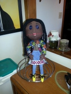 "Christinaline - modeled after the doll featured in the movie ""Coraline""."
