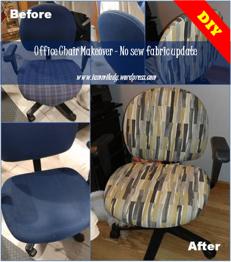 Office Chair Makeover. Update your chair with new fabric.